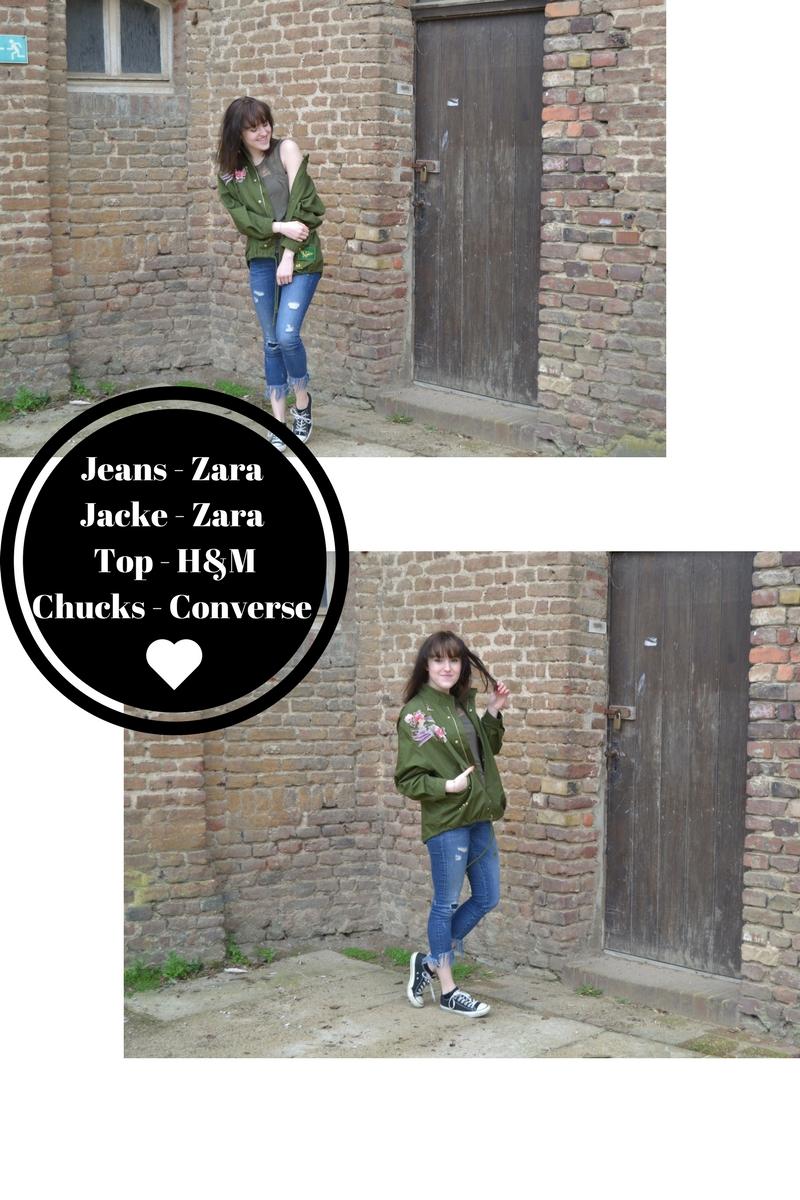 Jeans - Zara Jacke - Zara Top - H&MChucks - Converse